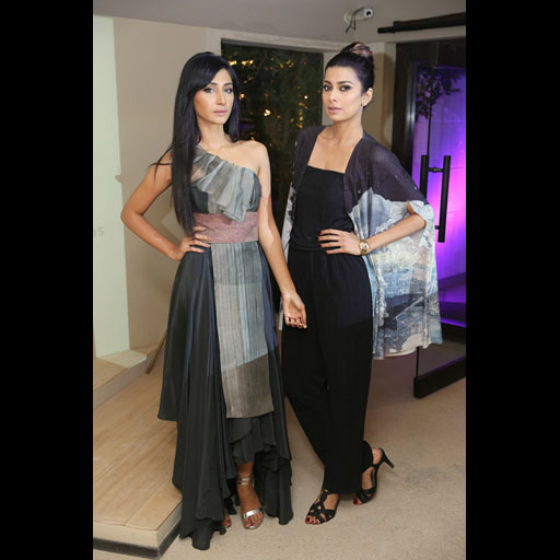 Hira Tareen and Fia Chaudhry model the Manora Collection