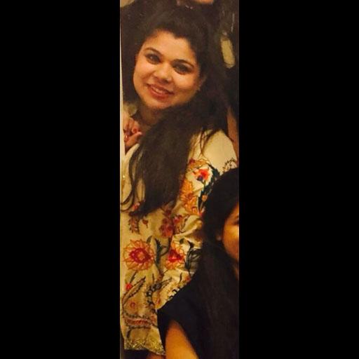 Maheen Farooqui wearing a Yasmin Zaman Suzani jacket
