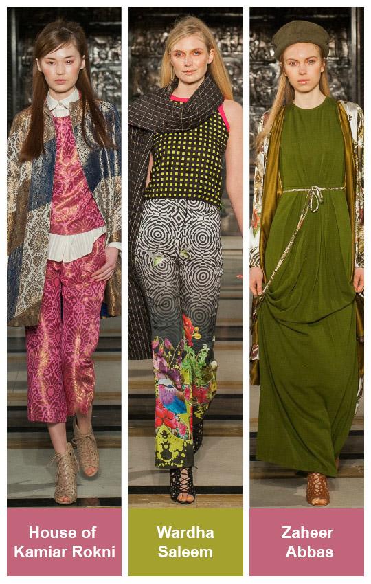 Project Runway: Fashion DNA at London Fashion Week A/W'16 – Wardha Saleem, Zaheer Abbas and Kamiar Rokni