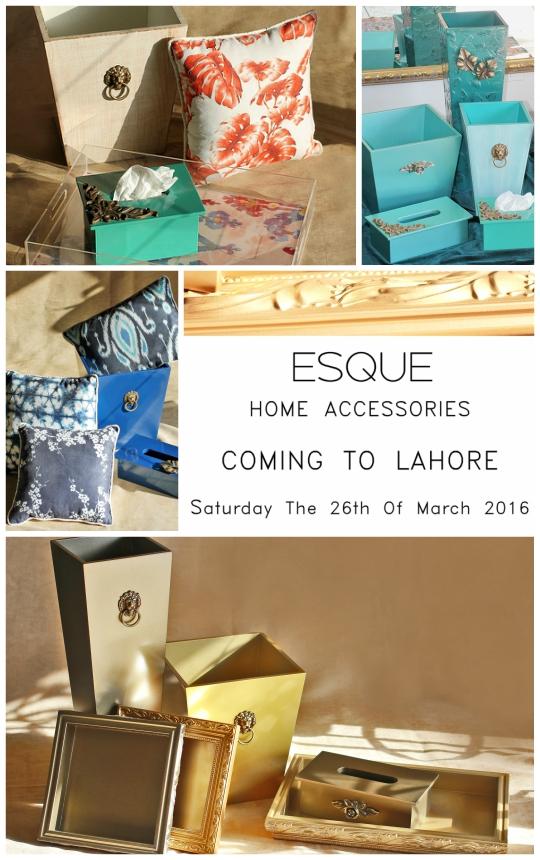 Exhibition Hit List: ESQUE by Saher Qadir Home Accessories Trunk Show Lahore!