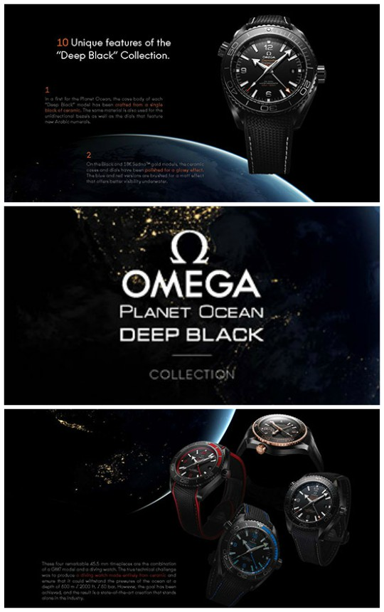 Whats in store?: AM:PM by Collectibles New Omega 'Deep Black' Wrist Watch Series