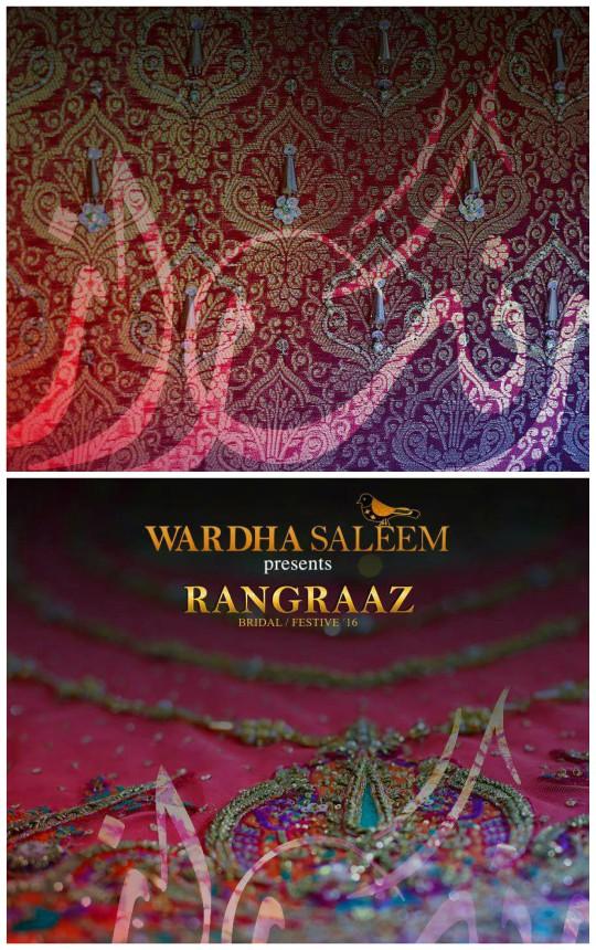 Behind The Scenes: An exclusive sneak peak at Wardha Saleem's latest bridal collection 'Rangraaz'!