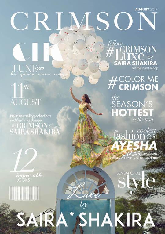 Ready, Set, Shoot: Crimson by Saira Shakira Mid-Summer Lawn Look Book