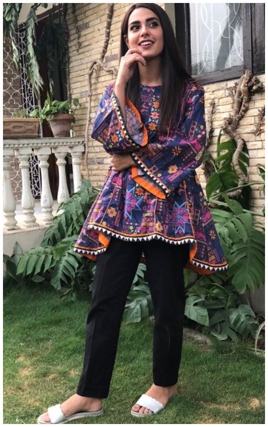 Style Notes: Iqra Aziz Steps Into The Summer With Alkaram!