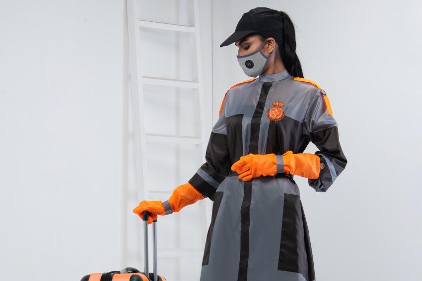 "In The Spotlight: Iconic Designer Shamaeel Ansari Creates Waves With Her Covid Safe Fashion Line ""MASQUER-AID"""